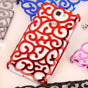 Galaxy Note II Hard Sided Heat Dissipating Electroplate Carved Case